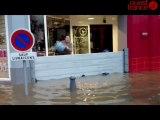 Le centre-ville de Landerneau inondé