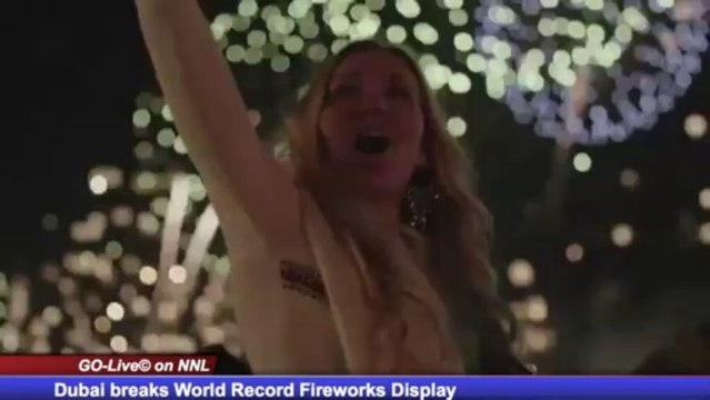 Dubai Sets World Record for Fireworks Display