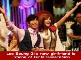 Lee Seung Gi and YoonA of Girls Generation in a relationship
