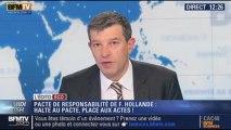 """L'Édito éco de Nicolas Doze: Pacte de responsabilité de François Hollande: """"Halte au pacte, place aux actes !""""  - 02/01"""