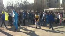 OM : des supporters manifestent devant le stade Vélodrome