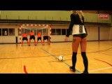 Les joueurs d'Antwerp s'entraînent à viser les fesses de jeunes femmes