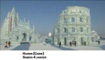 En Chine, de monumentales sculptures de glace à couper le souffle