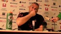 Rugby Top 14 - Christophe Urios  réagit après Oyonnax - Racing Métro (3e partie)