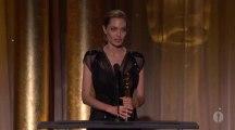 Angelina Jolie receives the Jean Hersholt Humanitarian Award at the 2013 Governors Awards