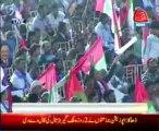 Karachi MQM leader Haider Abbas Rizvi addressing