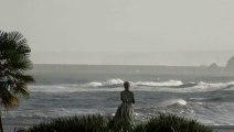 Temporal en la mar, baños y surf en el Cantábrico