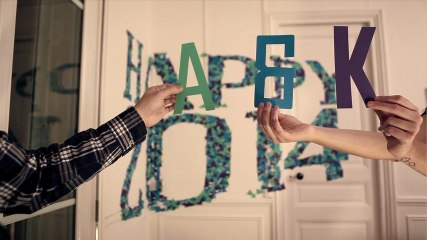 Happy New Year 2014 (stop motion / anamorphose )