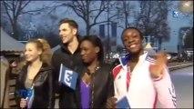 L'Equipe de France de patinage sur la glace des Champs-Elysées