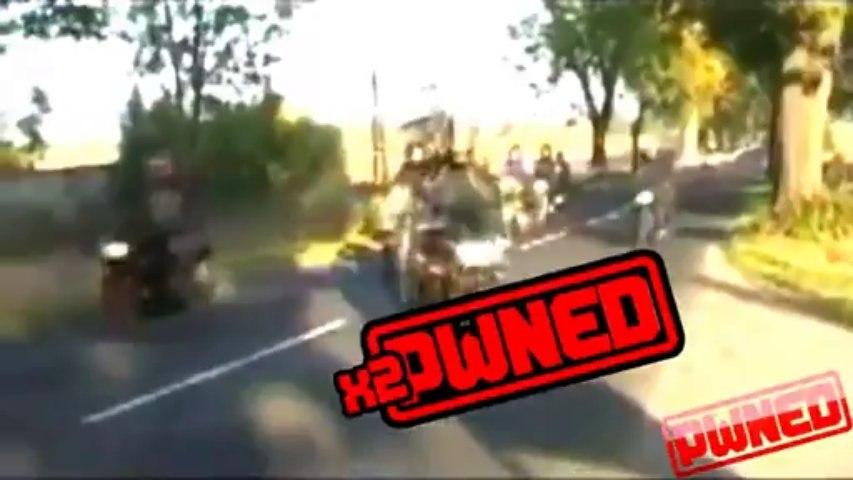 PWNED - Motorcycle Ride Ends With Crash