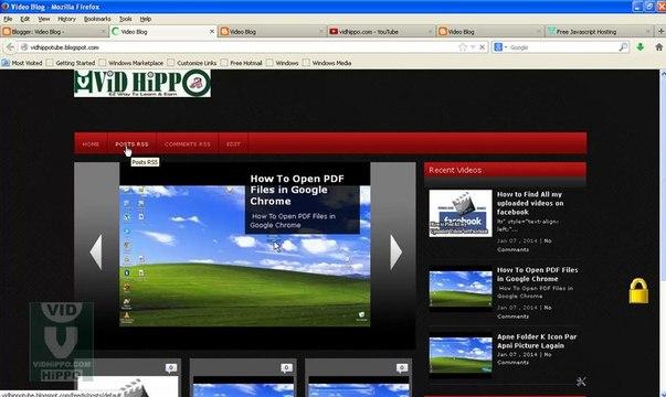 How To Make Video Blog in Urdu - Blogger Tube - ViDHiPPO.COM