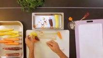 Tailler une carotte pour un décor