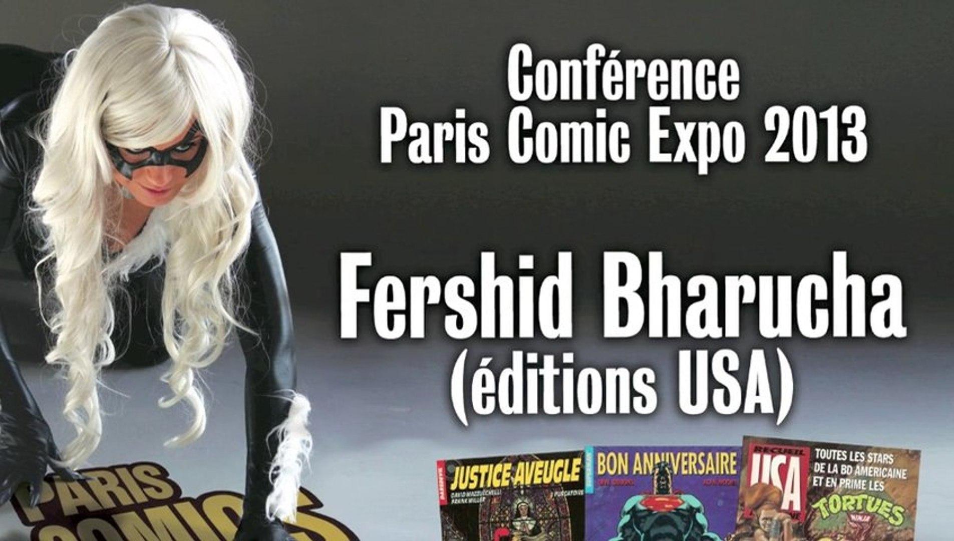 Conférence Fershid Bharucha par Comic Box à Paris Comics Expo 2013