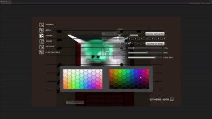 """prototype pour l'app """"Mise en Lumières"""" (Unity4.3)"""