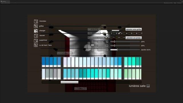 Prototypage d'une appli 3D d'éclairage de scène (Unity4.3)