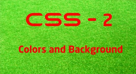 CSS - 2 LearnWithSaad - Colors and Background