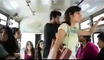Girl Boy  in Bus   شاب يتحرش بفتاه فى الاتوبيس