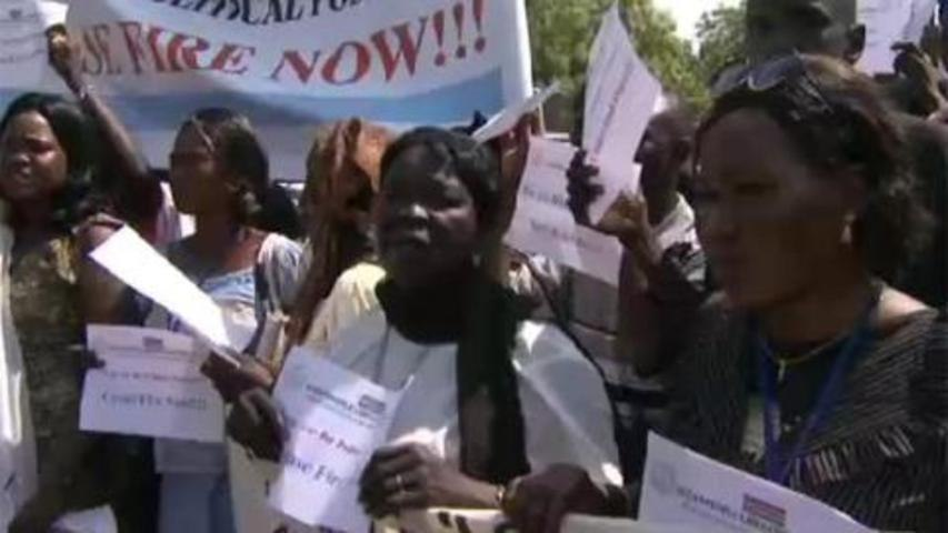 South Sudanese demand end to conflict