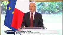 Évènements : Voeux à la presse de Claude Bartolone, président de l'Assemblée nationale.