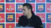 Xavi cree que el Barcelona llega en muy buen momento al choque contra el Atlético de Madrid