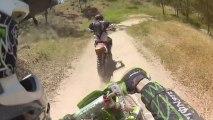 Kawasaki KX 125 Trail Blazing   CRASH