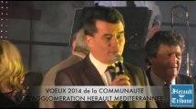 SAINT THIBERY - 2014 - Voeux Communautaires et distinctions honorifiques de la COMMUNAUTE d'AGGLOMERATION HERAULT MEDITERRANNEE