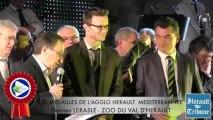 SAINT THIBERY - 2014 - Damien LERASLE honoré de la Médaille d'honneur de la Communauté d'Agglomération HERAULT MEDITERRANNEE