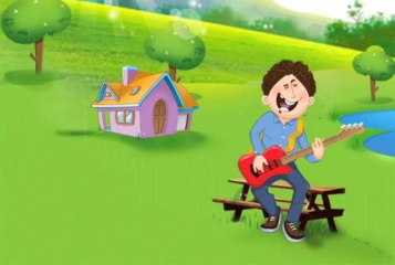 Popular Nursery Rhymes-My Father plays guitar the making- Animated Nursery Rhymes for children