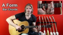 Online Guitar Chords - A Form Bar Chords - Free Guitar Lessons