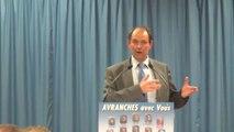 municipales Avranches 2014 - meeting de Guénhaël Huet, maire sortant - 27 fév 2014 - programme