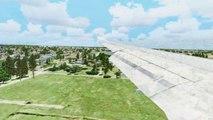 FSX Air Canada Airbus A340 Landing @ New Orleans ( Wing ) ( HD )