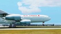 FSX Air Canada Airbus A340 Landing @ New Orleans ( Outside) ( HD )