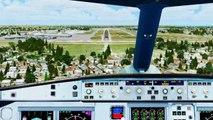 FSX Air Canada Airbus A340 Landing @ New Orleans ( Cockpit ) ( HD )