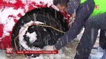 La neige ralentit les vacanciers près des stations de sports d'hiver