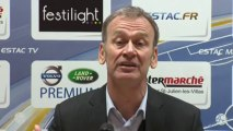 Conférence de presse ESTAC Troyes - Clermont Foot (2-2) : Jean-Marc FURLAN (ESTAC) - Régis BROUARD (CF63) - 2013/2014