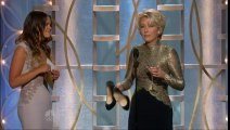 Emma Thompson drunk and barefoot at the Globes!