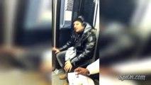 Le mec qui vit sa musique dans le métro