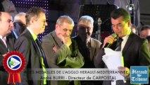 HERAULT - 2014 - André BURRI honoré de la Médaille d'honneur de la Communauté d'Agglomération HERAULT MEDITERRANNEE