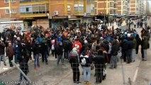 Disturbios durante las protestas en Burgos