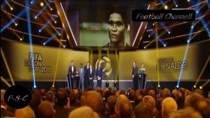 Cristiano Ronaldo premiazione pallone d'oro 2013 - Cristiano Ronaldo Fifa Ballon D'or win 2013