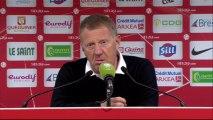 Conférence de presse Stade Brestois 29 - RC Lens (0-1) : Alex  DUPONT (SB29) - Antoine  KOMBOUARE (RCL) - 2013/2014
