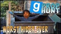 WORST HIDER EVER :: Prop Hunt w/ Friends!