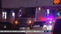 Budget Rental Truck Gets Stuck Under Bridge