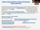 Rubber Products Markets in China (6 Full Research Reports Collection)