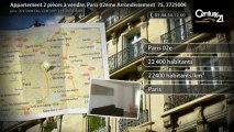 Appartement 2 pièces à vendre, Paris 02eme Arrondissement  75, 372500€