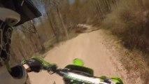 Kawasaki Kx 125 GOPRO Dirt Bike Action