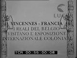 In Francia i reali del Belgio visitano l' esposizione internazionale coloniale