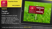 A vendre - terrain - PENNE D AGENAIS (47140) - 1 250m²