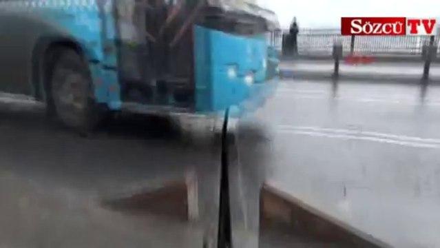 Unkapanı Köprüsü'ndeki korkutan görüntü