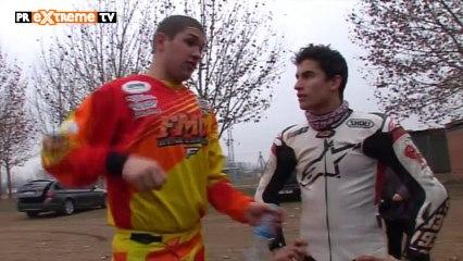 Superprestigio Dirt Track 2014 en Barcelona - Marc Marquez y Brad Baker prueba Lleida - PRExtrem... (HD)